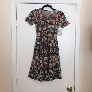 XXS LuLaRoe Amelia Dress E03 658